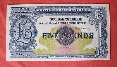 British Armed Forces Five Pounds Mint Uncirculated 1958 Ee Series