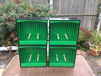 4 x SCOTTISH NO.3 SHOW CAGES WITH SLIDING FRONT - VGC