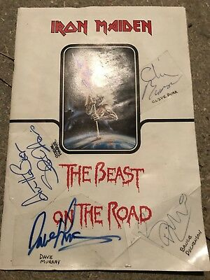 Signed Iron Maiden Programme