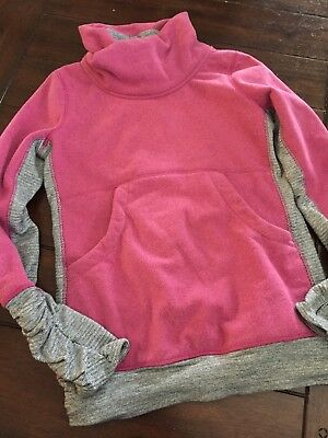 Ivivva By Lululemon Hook On Beats Grey Pique  Pink FleecePullover Youth Size 14