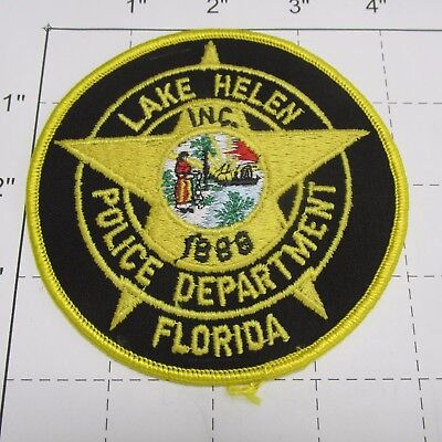 Lake Helen Police Dept Lhpd Ship Star State Seal Indian Colorful Florida  Patch