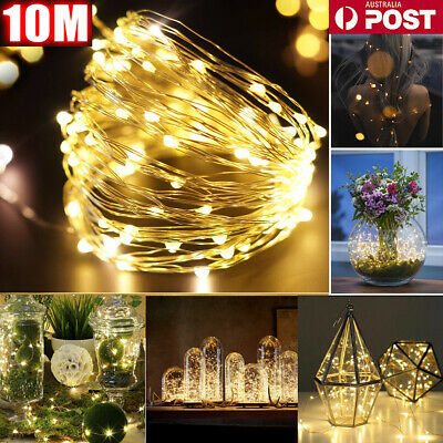 2-10 M Battery Powered Copper Wire String Fairy Xmas Party Lights Warm White AUS