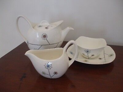 Rare Original Vintage Midwinter Flower Mist Tea Set - Designed By Jessie Tait