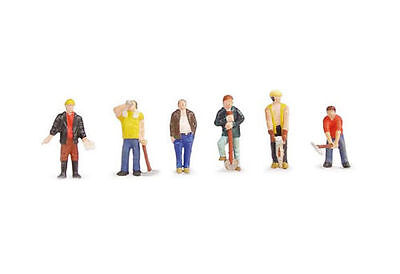 BACHMANN  :- 36-042 CONSTRUCTION WORKERS  6 x 00 Scale Figures New & Packaged