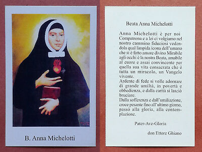 Santino Holy Card: Beata Anna Michelotti