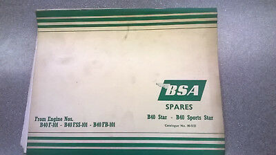 Original BSA Spares Catalogue for B40