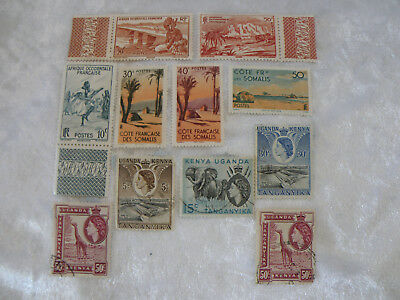 Vintage Africa Postage Stamps X 11 Lot J Nice Collection  See Pictures
