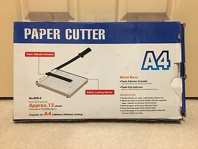 Portable A4 To B7 Paper Photo Cutter Guillotine Trimmer Knife Metal Base
