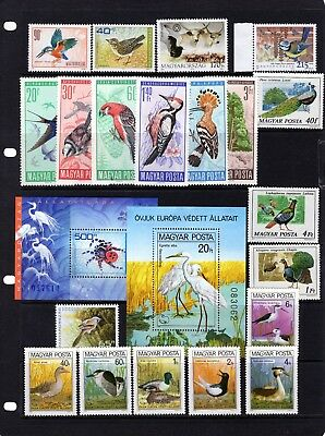 HUNGARY, collection of Birds/Bird related stamps Mtd MINT