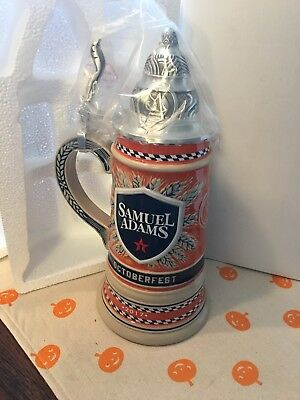 Beer Stein, Samuel Adams 2017 Octoberfest - Limited Edition New/Box.  Numbered.