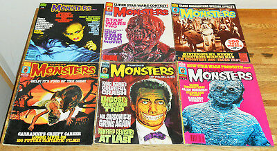 6x FAMOUS MONSTERS OF FILMLAND lot Warren Mags 1976 Horror Doctor Who Star Wars