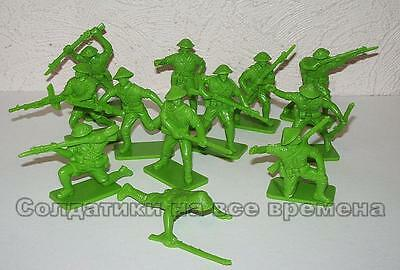 Hing Fat DGN Plastic toy soldiers 1/32 WW2 Chinese Nationalists. 12pcs