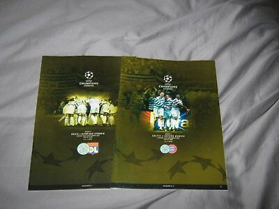 2 Celtic Champions League Programmes from 03/04