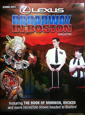 Broadway in Boston Spring 2013 theater guide the Book of Mormon magazine tour