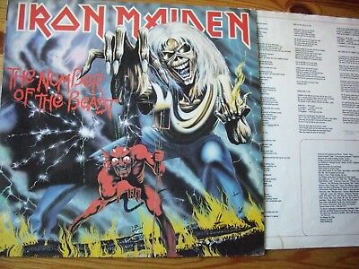 """IRON MAIDEN """"THE NUMBER OF THE BEAST"""" , OIS mit Texte"""