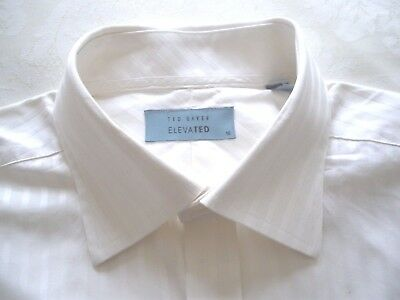 "Mens shirt Ted Baker 16"" - Cream self stripe  - excellent condition"
