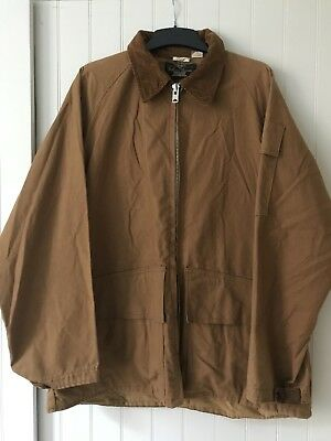 VINTAGE MENS 'FIELD AND FIRESIDE' 60s MENS HUNTING JACKET XL GINGER COTTON