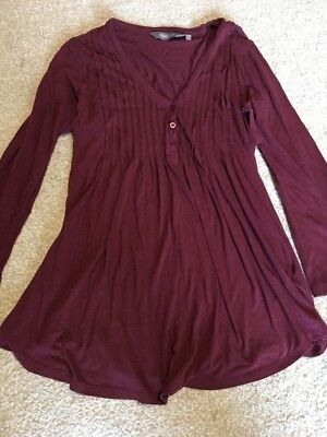 New Look Burgundy Maternity Top Size 12