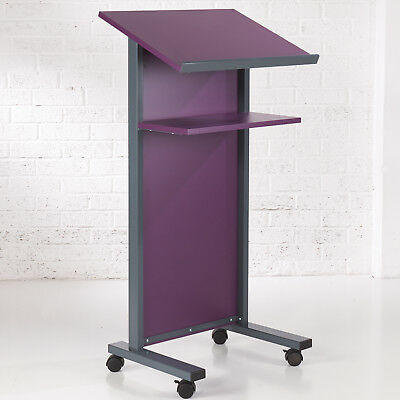 Purple Panel Front Lectern