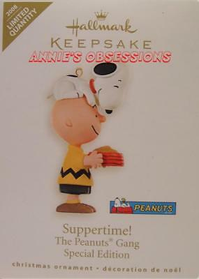 Hallmark 2008 * Suppertime! * Peanuts * Snoopy * Limited * Signed * Ornament