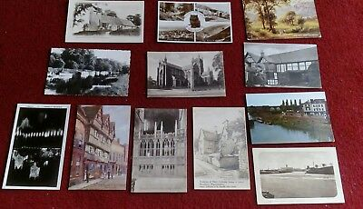 12 Vintage Postcards Of Worcestershire.