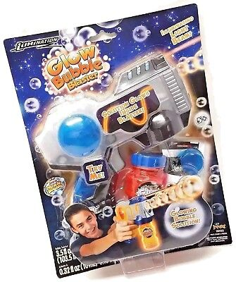 Super Miracle Bubbles Bubble Blaster + Glowing Bubble Solution & Activator - NEW