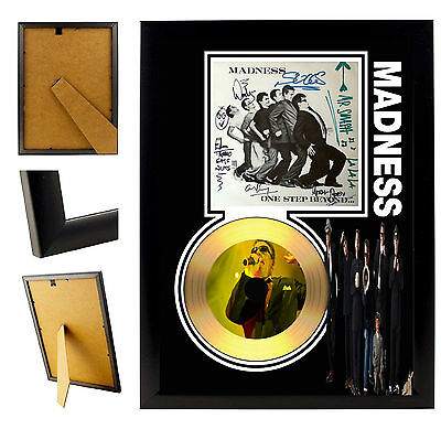 Madness / Suggs - A4 Signed Framed Gold Vinyl Collectors Cd Display Picture