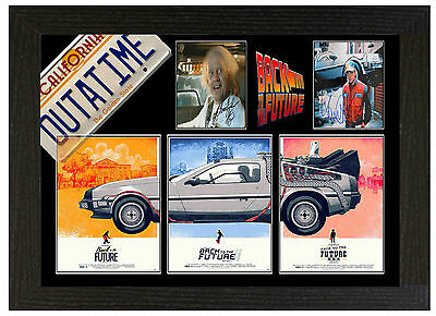 Back To The Future B - A3 Signed Framed Collectors Display Picture