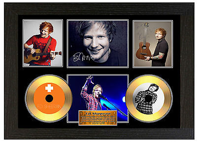 Ed Sheeran - A3 Signed Framed Gold Vinyl Collectors Cd Display Picture