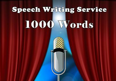 Speech Writing Service - 1000 Words - Get Your Script Written For You