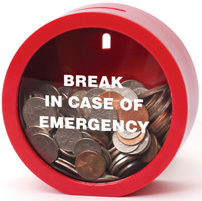 Emergency Money Bank - Fun Twist on Classic Piggy Coin Bank