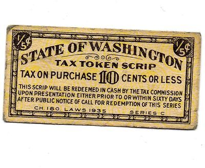 Washington State *** Tax Token *** 1941 *** 3% *** TAX TOKEN