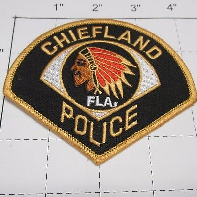 Old Chiefland Police Dept Clpd Indian Head Feathers City Colorful Florida  Patch