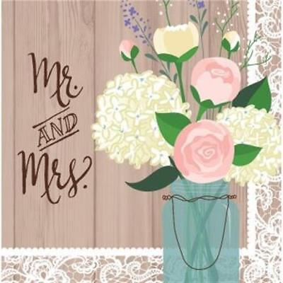 rustic wedding mr and mrs lunch napkins 16 pack bridal shower decoration
