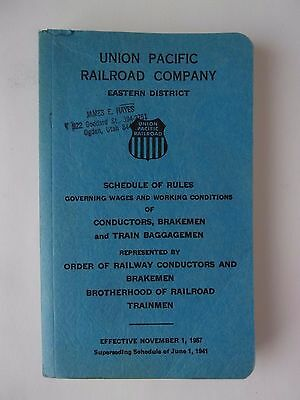 1957 Union Pacific Railroad Eastern District Schedule of Rules - Very Good Cond