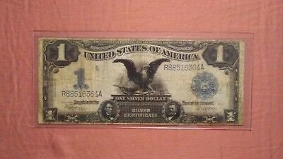 1899 Black Eagle-Large One Dollar bill, Silver Certificate