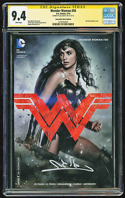 Wonder Woman #50 Convention Photo Variant SS CGC 9.4 Gal Gadot Signature Series