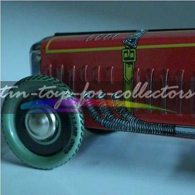 Pre War Speed Record Car Vollblech Lithographiert Spiralfederaufzug