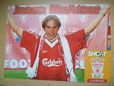 Original Hand Signed Press Cutting- JASON McATEER, Liverpool FC (apx A4)