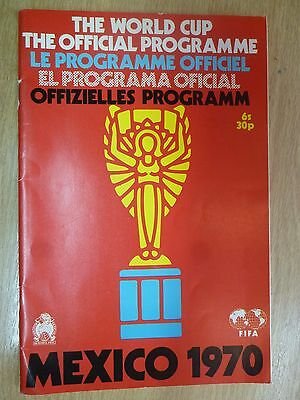 1970 Mexico World Cup Official Programme