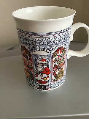 DUNOON MUG Father CHRISTMAS design by SUE SCULLARD, Bone China Made In England