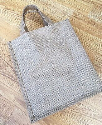 12 Brown Jute Craft Bags