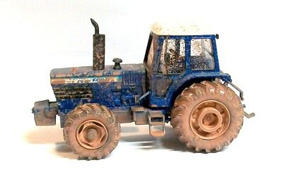 1/32 Britains Ford Tw 30 Weathered Tractor In Original Box Nice Conversion Model