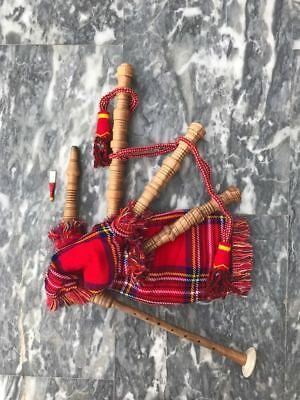 Junior Playable Bagpipe Coucas Wood with Box By The Celticland