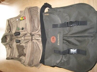 Snowbee Geo large fly fishing vest and snow bee trout bag