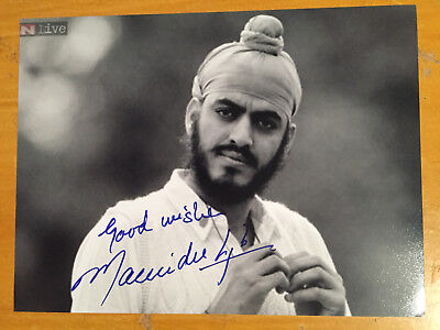 1982 Maninder Singh India Test Player Signed Photograph vgc