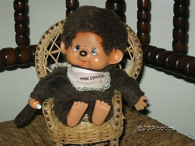 Vintage Monchichi Monchhichi Monkey with Bib 1974 Sekiguchi