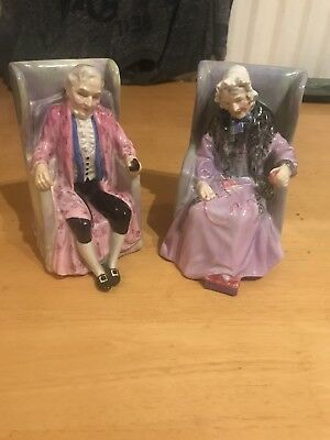 Royal Doulton Figurine Darby And Joan hn2024 & hn2023