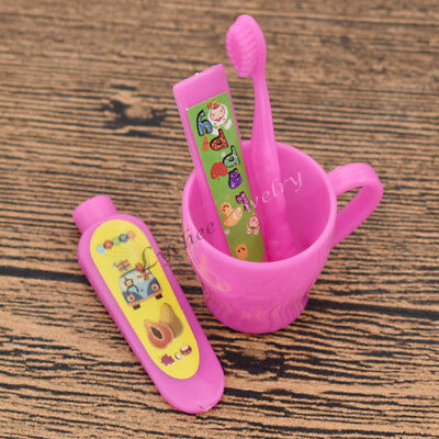 Doll Accessories Tooth Cup Toothbrush Toothpaste Children Kids Supplies 1 Set