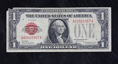 $1 1928 red seal US Note A00505967A one dollar single year issue, FREE SHIPPING
